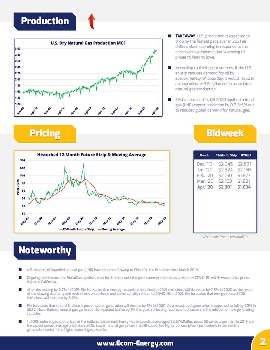 Ecom-Energy's April 2020 Market Update - Page 2