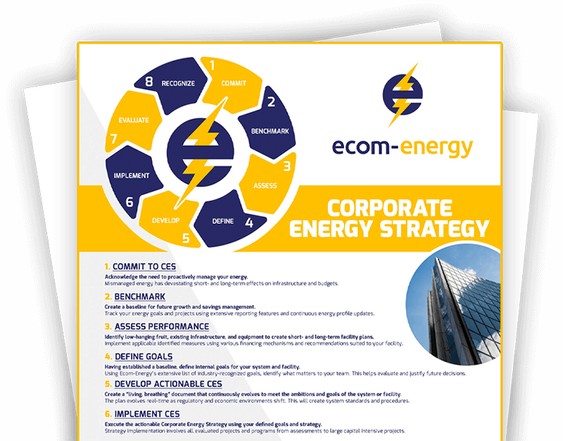 Ecom-Energy's Corporate Energy Strategy (CES) Cycle Flyer