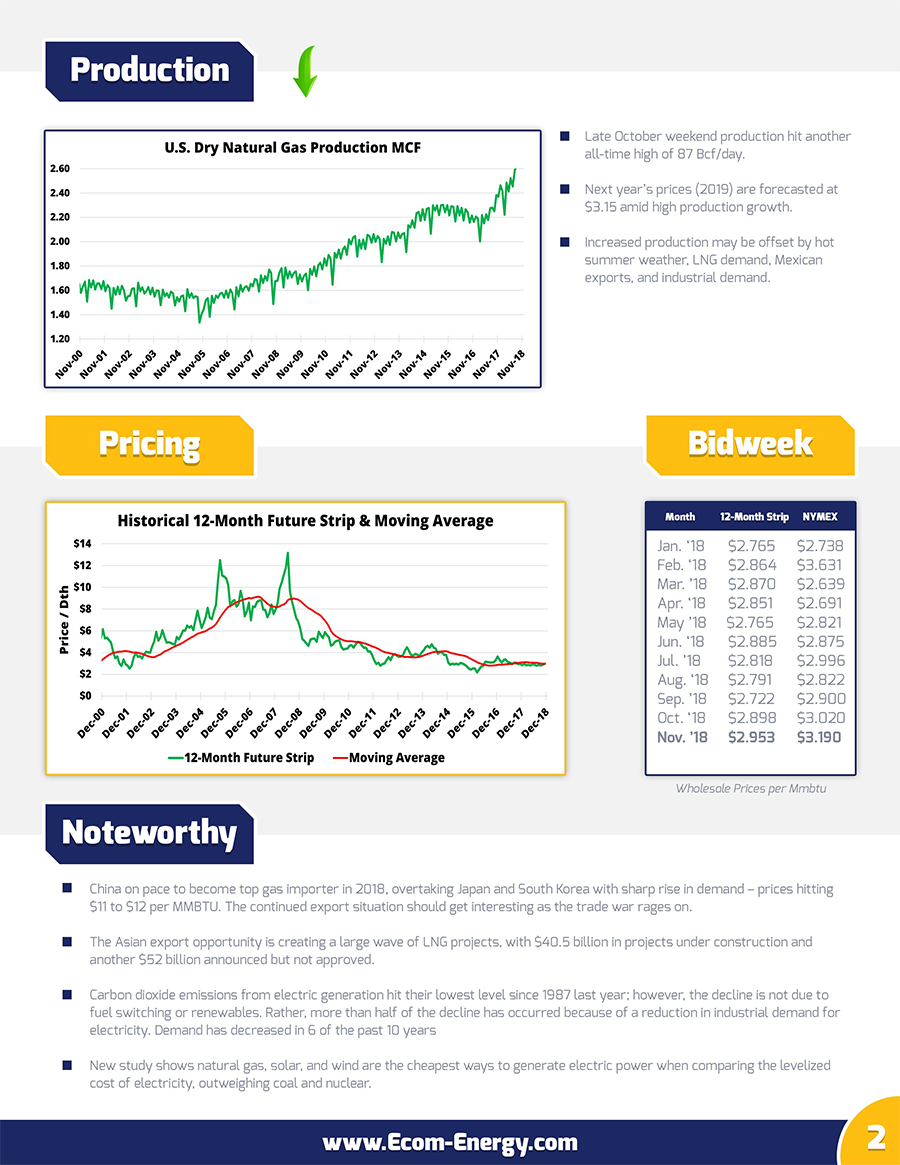 Ecom-Energy's November 2018 Market Update - Page 2