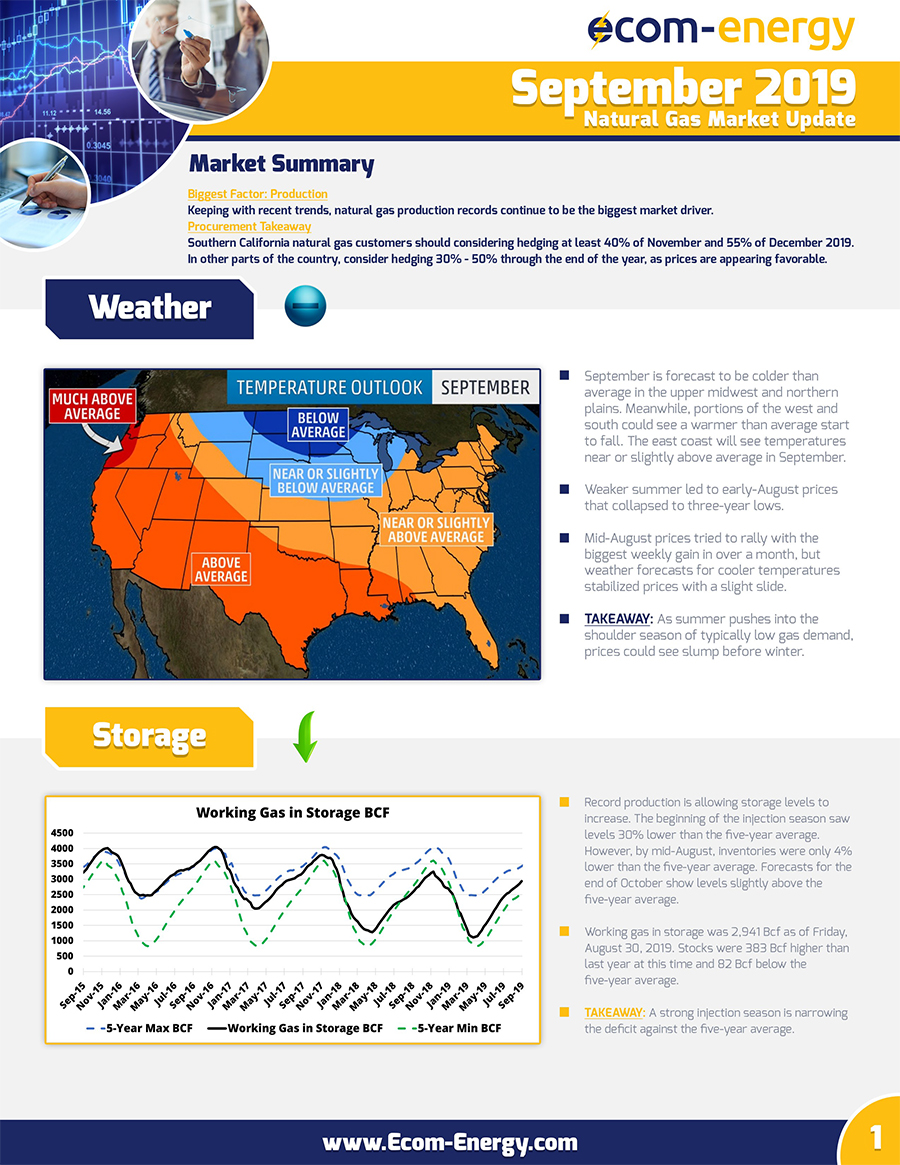 Ecom-Energy's September 2019 Market Update - Page 1