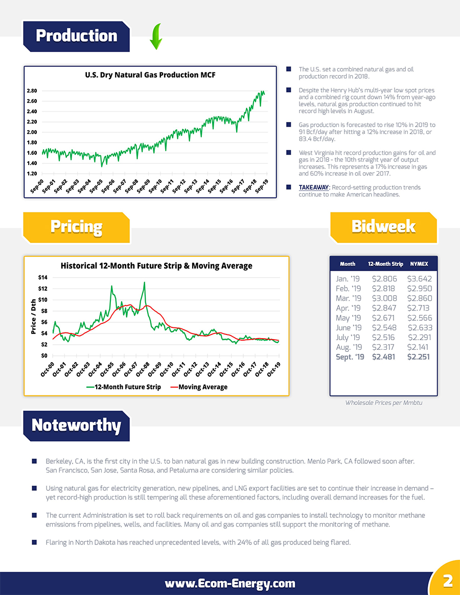 Ecom-Energy's September 2019 Market Update - Page 2