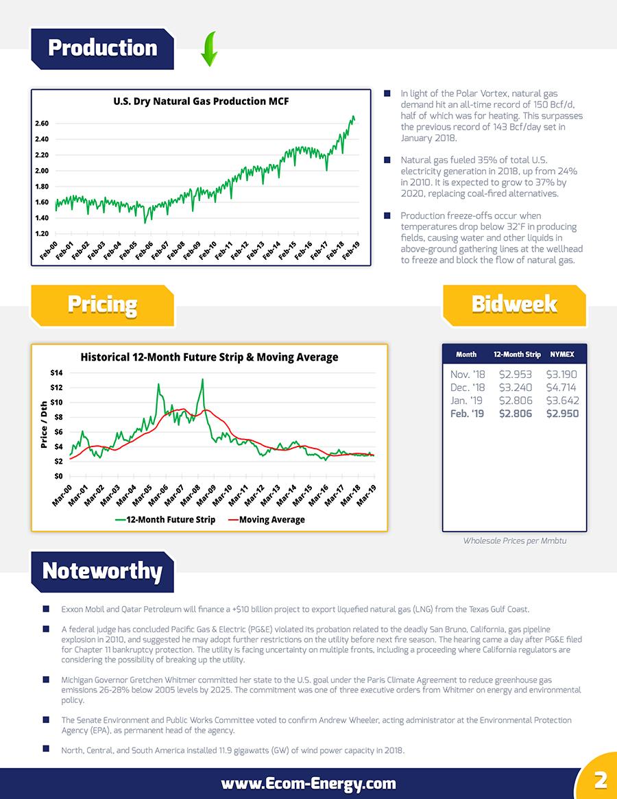 Ecom-Energy's February 2019 Natural Gas Market Update | Ecom