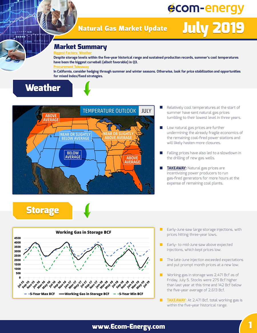 Ecom-Energy's July 2019 Market Update - Page 1