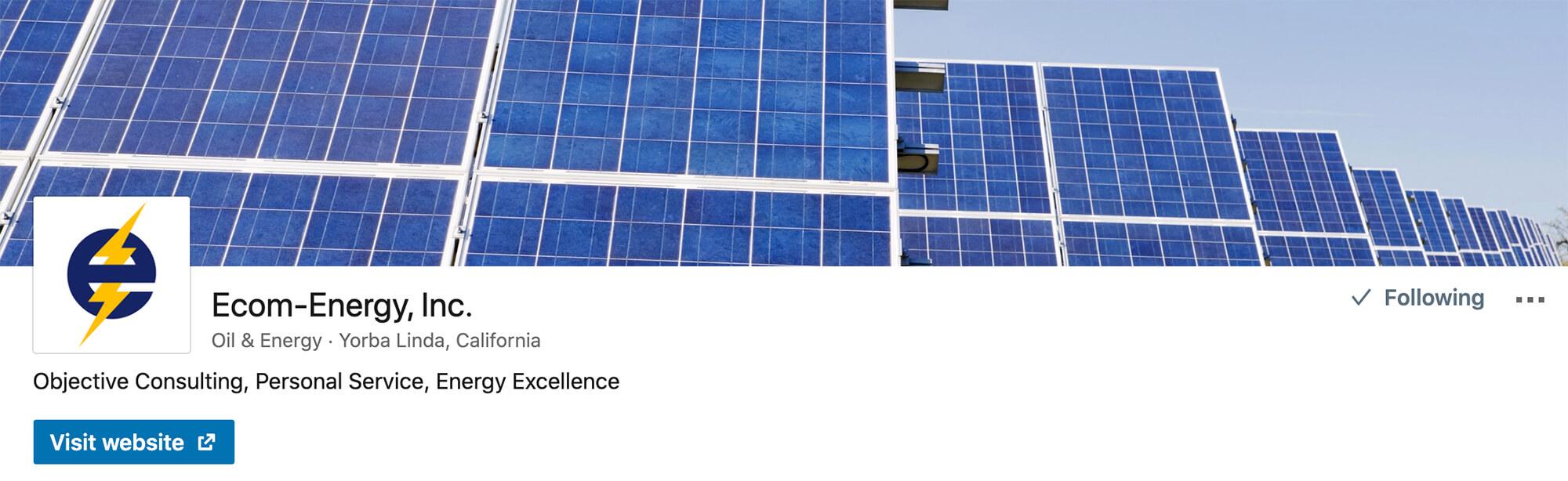 Ecom-Energy's LinkedIn Company Profile